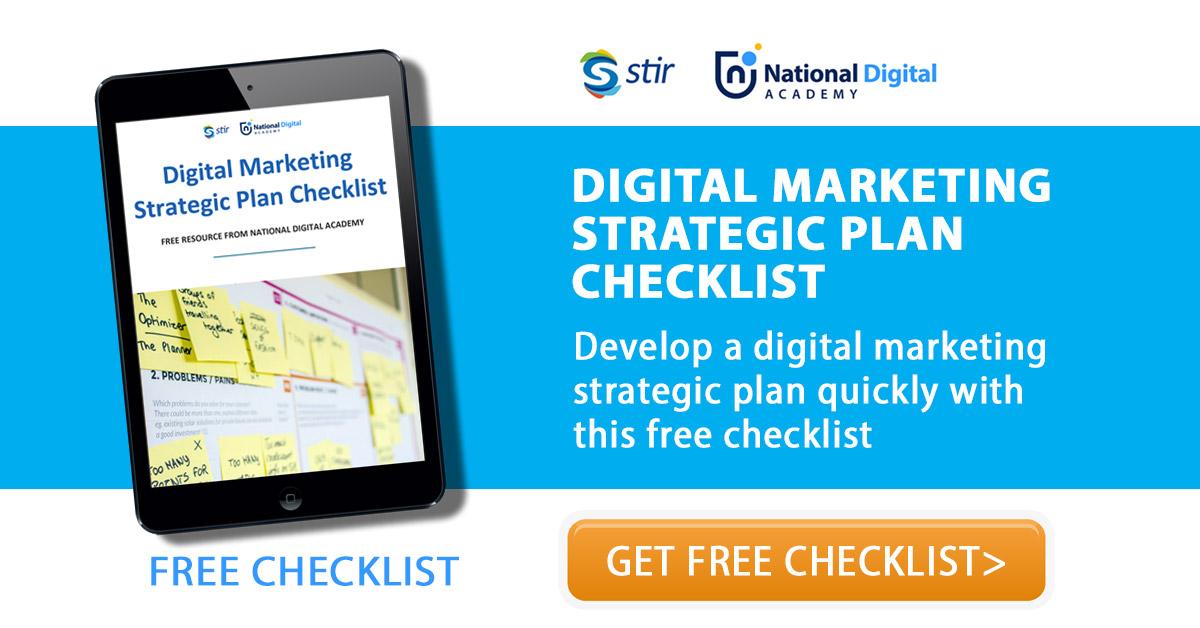 digital marketing strategic plan checklist free